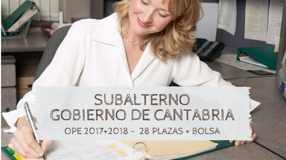 Oposiciones-subalterno-cantabria-2019 Correcion errores OPE 2018 Cantabria