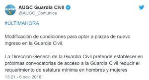 tuit-300x162 Posible cambio en el requisito estatura oposicion Guardia Civil 2019