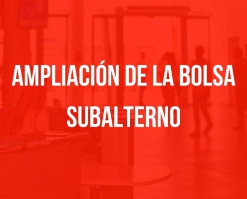 Ampliacion bolsa Subalterno Cantabria