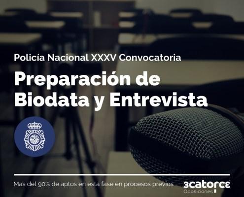 Arrancamos sesiones preparacion Biodata entrevista policia nacional