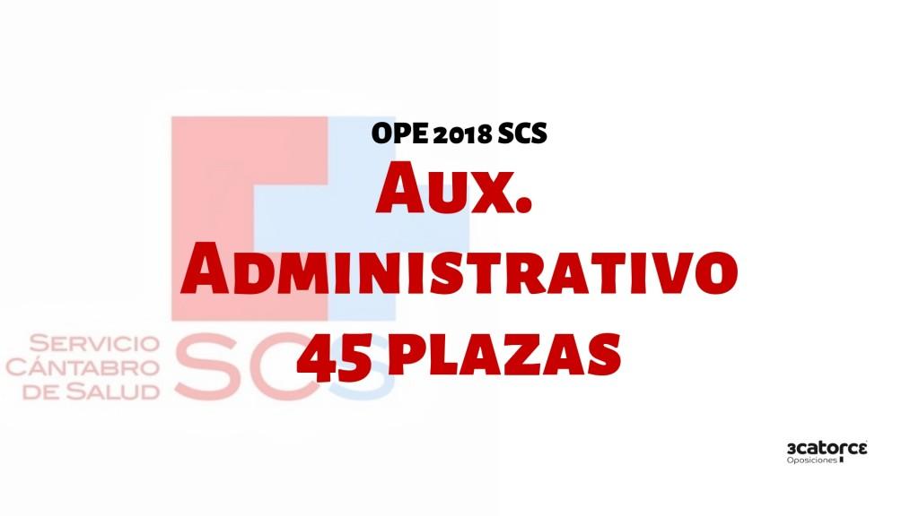 Confirmadas-45-plazas-oposiciones-auxiliar-administrativo-SCS-2019 Confirmadas 45 plazas oposiciones Auxiliar Administrativo SCS 2019