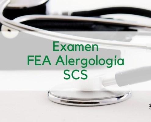 Fecha examen oposicion SCS FEA Alergologia