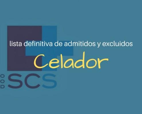 Lista definitiva admitidos oposiciones Celador SCS