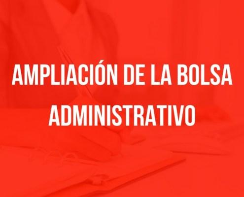 Ampliacion bolsa Administrativo Cantabria