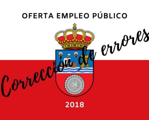 Correcion errores OPE 2018 Cantabria