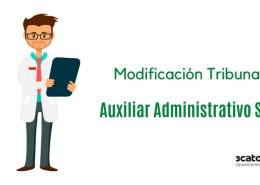 Mofidicacion-Tribunal-oposicion-Auxiliar-Administrativo-SCS Oposiciones administrativo ayuntamientos Cantabria