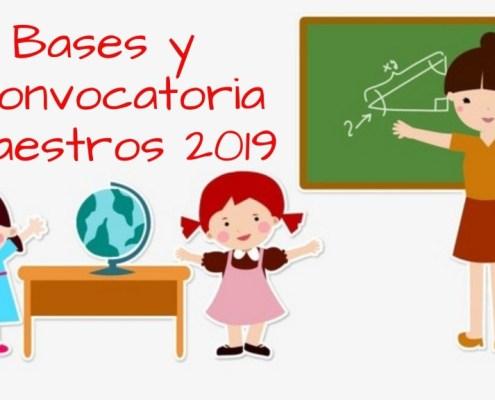 Bases Convocatoria oposiciones maestros 2019 Cantabria