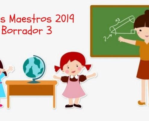 Tercer Borrador Bases Convocatoria oposiciones maestros Cantabria 2019