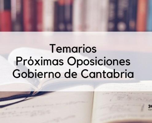 Temarios Cantabria Oposiciones 2019 Personal Laboral