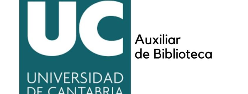 Convocatoria auxiliar de biblioteca Universidad Cantabria 2019