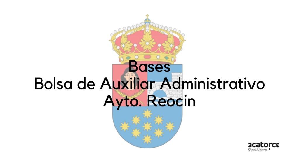 Bases-oposicion-auxiliar-administrativo-Reocin Bases oposicion auxiliar administrativo Reocin