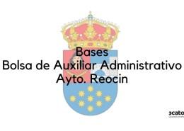 Bases-oposicion-auxiliar-administrativo-Reocin 16047 plazas oferta empleo publico Madrid 2018