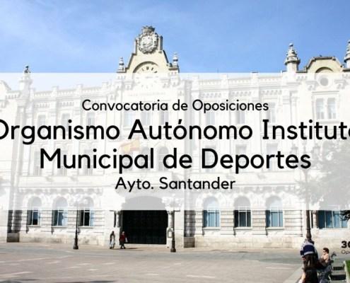 Convocatoria Instituto municipal deportes oposiciones Santander 2019