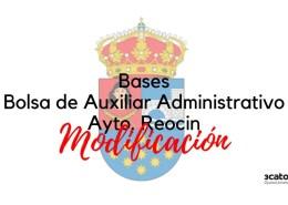 Modificacion-bases-oposicion-auxiliar-administrativo-Reocin Temario Subalterno Cantabria