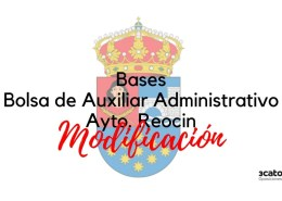 Modificacion-bases-oposicion-auxiliar-administrativo-Reocin Nuevo curso subalterno Cantabria 2018