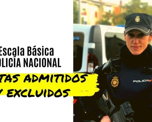 Lista admitidos policia nacional 2019 publicadas