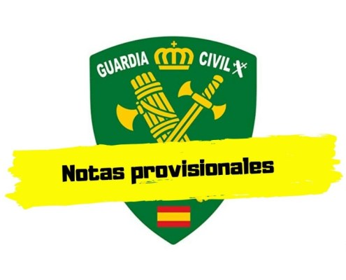 Notas provisionales examen Guardia Civil 2019