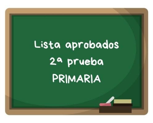 Notas segunda prueba primaria maestros Cantabria 2019