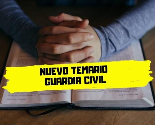 Nuevo temario Guardia Civil 2020