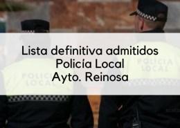 Admitidos-definitivos-oposicion-Policia-Local-Reinosa 4 plazas Policia Local 2019 Cantabria Torrelavega