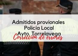 Admitidos-provisionales-Policia-Local-Torrelavega 4 plazas Policia Local 2019 Cantabria Torrelavega