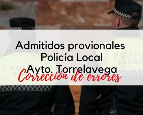 Admitidos provisionales Policia Local Torrelavega