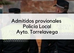 Admitidos-provisonales-Policia-Local-movilidad-Torrelavega Bases y convocatoria oposiciones Trabajo Social Cantabria