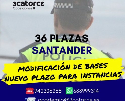 Convocatoria Oposiciones Policia Local Santander 2019