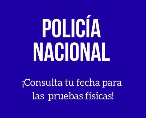 Fechas pruebas fisicas Policia Nacional 2019