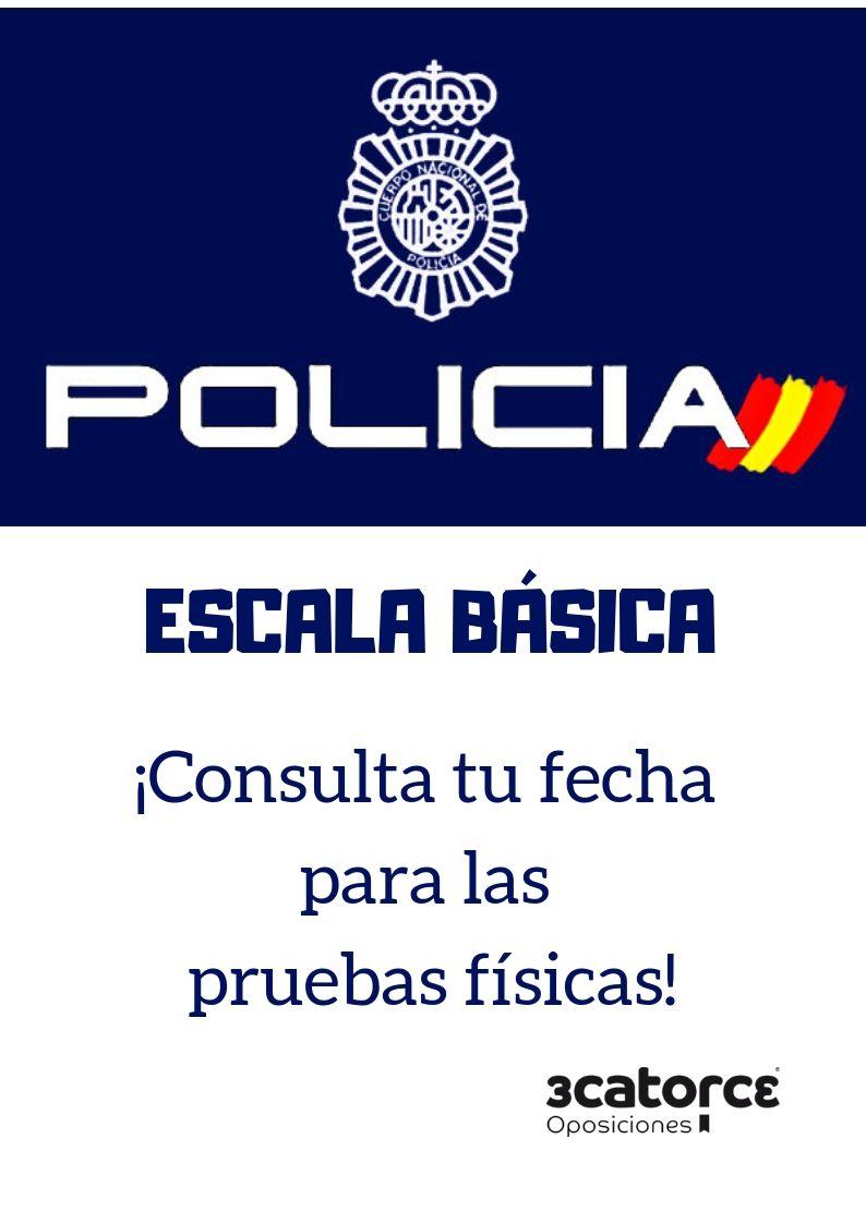 PROMOCIÓN-XXXVI-ESCALA-BÁSICA Fechas pruebas fisicas Policia Nacional 2019