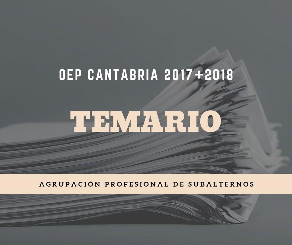 temario-oposiciones-Subalterno-Cantabria-2020 Temario Subalterno Cantabria
