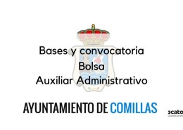 Bolsa-Auxiliar-Administrativo-Comillas-2019 Bases 1 plaza Trabajador Social Camargo