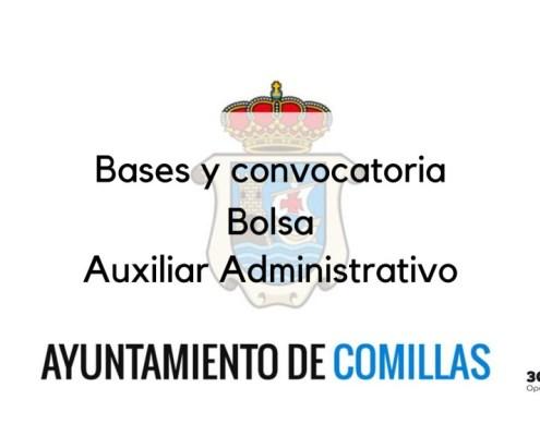 Bolsa Auxiliar Administrativo Comillas 2019