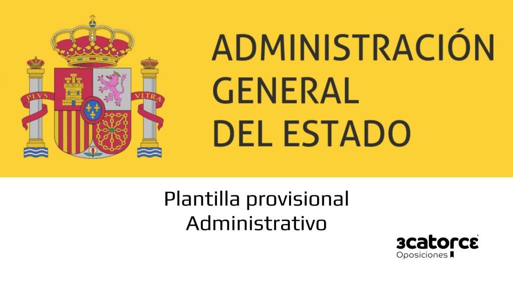Plantilla-provisional-examen-Administrativo-Estado-2019 Plantilla provisional examen Administrativo Estado 2019