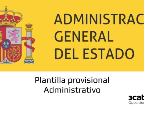 Plantilla provisional examen Administrativo Estado 2019