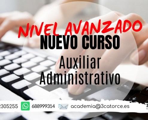 Nuevo curso AVANZADO oposicion Auxiliar Administrativo Cantabria 2020