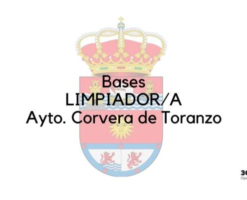 Bases oposiciones limpieza Corvera de Toranzo 2019