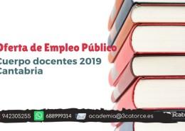 Oferta-Empleo-cuerpos-docentes-2019-Cantabria-1 Tribunales definitivos oposiciones maestros Cantabria 2019