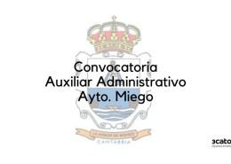 Convocatoria-Auxiliar-Administrativo-Miengo-2020-2 Bases oposicion Peon Servicio Multiples Guriezo Cantabria