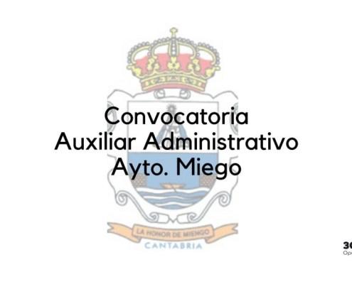 Convocatoria Auxiliar Administrativo Miengo 2020