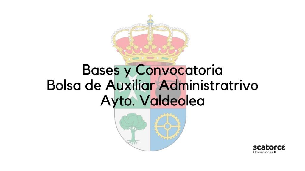 Convocatoria-bolsa-Auxiliar-Administrativo-Valdeolea-2020-2 Convocatoria bolsa Auxiliar Administrativo Valdeolea 2020