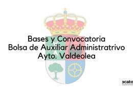 Convocatoria-bolsa-Auxiliar-Administrativo-Valdeolea-2020-2 Curso Torrelavega auxiliar administrativo SCS 2018