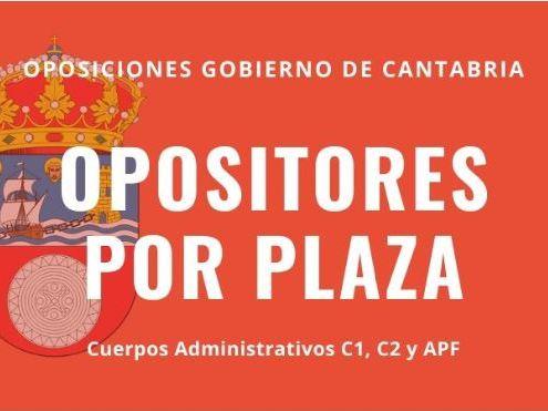 Numero opositores por plaza Cantabria 2020 portada