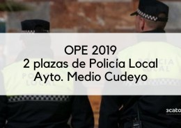 2-plazas-policia-local-Medio-Cudeyo Admitidos definitivos y fecha examen Policia Local Torrelavega