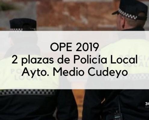2 plazas policia local Medio Cudeyo