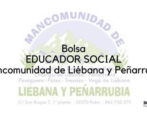 Bases y convocatoria bolsa educador social Mancomunidad Liebana Peñarrubia