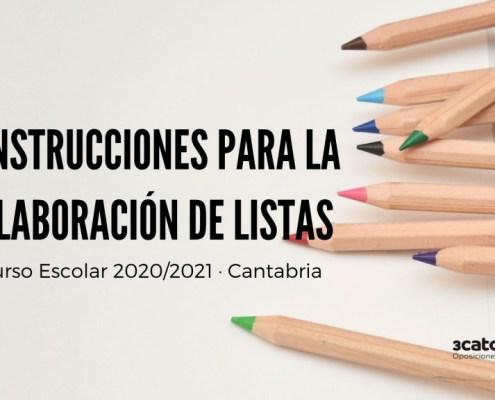 Instrucciones elaboracion listas interinos docentes 2020