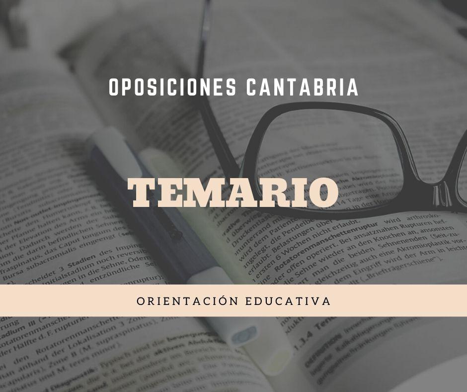 2-5 Temario Oposiciones Orientacion Educativa Cantabria