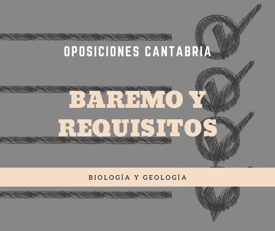 4-2 Baremo y requisitos oposiciones biología y geología