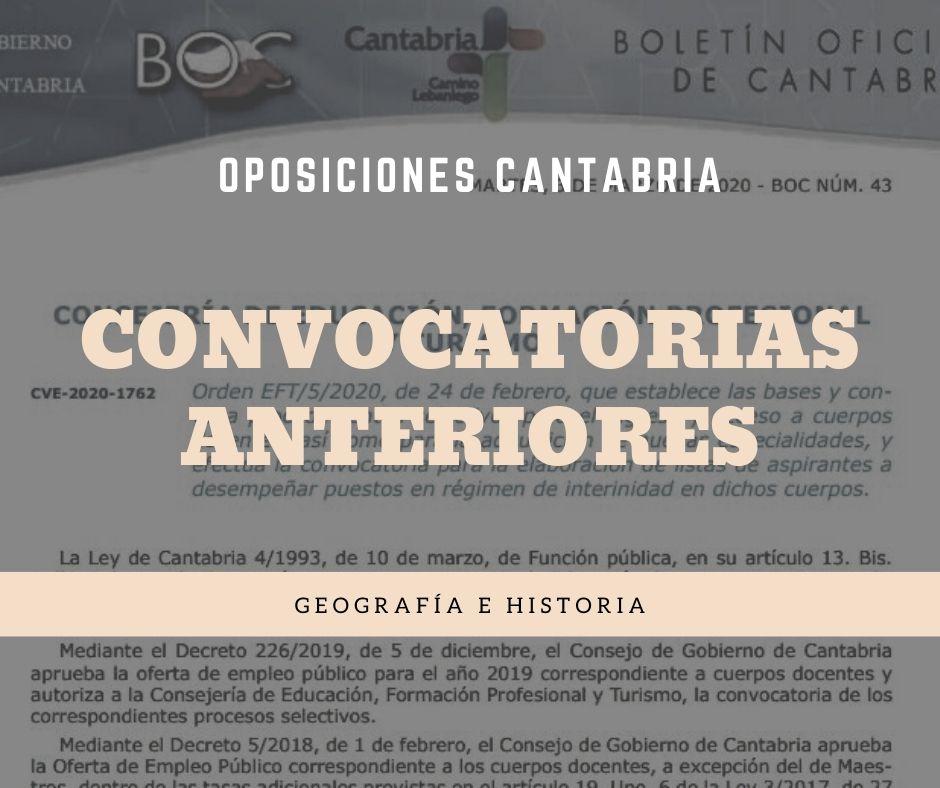 5-1 Convocatoria oposiciones geografia historia